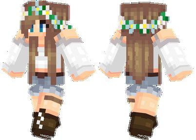 Flower Crown Minecraft Skins