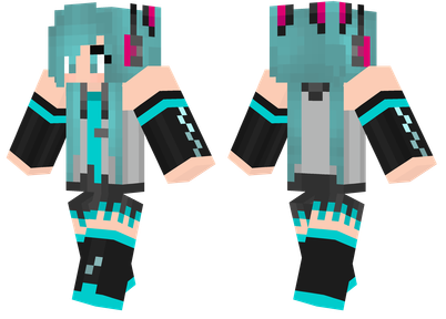 Hatsune Miku Minecraft Skins