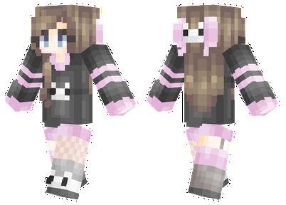 pink wolf minecraft skin