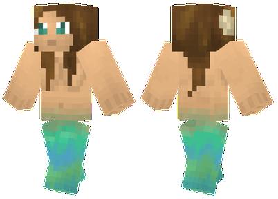 Скин русалки для Minecraft скачать