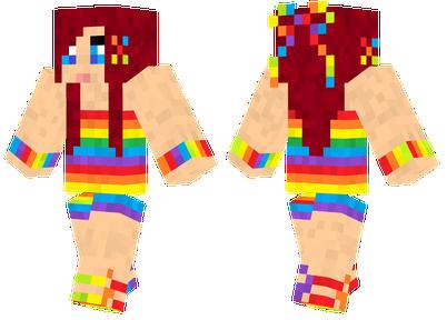 Rainbow Girl - Skin