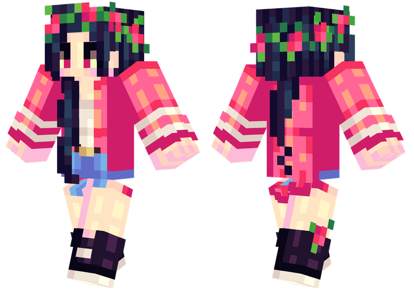 Red Roses Minecraft Skins - Skin para minecraft or