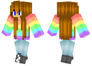 Rainbow Shirt Girl
